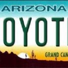 Coyotes Arizona Novelty State Metal License Plate