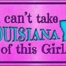 Louisiana Girl Novelty Metal License Plate