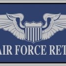 United States Air Force Retired Armed Services Metal License Plate