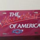 Chevrolet Heart Beat Of America Airbrush License Plate