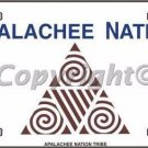 Apalachee Nation Flag Metal Novelty License Plate
