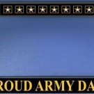 Proud Army Dad Black License Plate Frame