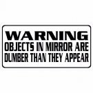 Warning Objects In The Mirror Are Dumber Than They Appear Photo License Plate