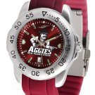 New Mexico State Aggies Sport AnoChrome Colored Band Watch