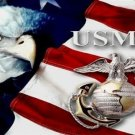 U.S.M.C. Eagle With Flag Photo License Plate
