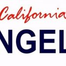 ANGELS California Novelty State Background Vanity Metal License Plate