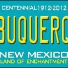 Albuquerque New Mexico Teal Novelty Metal License Plate