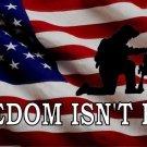 Freedom Isn't Free United States Flag Photo License Plate