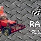 RAWIRI Racing on Diamond Plate Photo License Plate