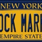 Stock Market New York Background Novelty Metal License Plate