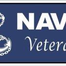 US United States Navy Veteran Vanity Metal Novelty License Plate