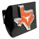 Texas (Longhorn-TX shape with color) Black Hitch Cover