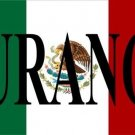 Mexican Flag with Durango Photo License Plate