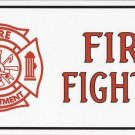 Fire Fighter With Logo Photo License Plate