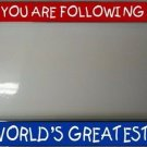 You Are Following The World's Greatest Dad License Plate Frame