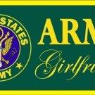 US United States Army Girlfriend Vanity Metal Novelty License Plate