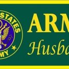 US United States Army Husband Vanity Metal Novelty License Plate