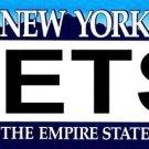 JETS New York Novelty State Background Vanity Metal License Plate