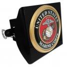 Marine Seal Emblem on Black Plastic Hitch Cover