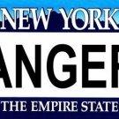 RANGERS New York Novelty State Background Vanity Metal License Plate