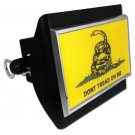 Don't Tread on Me Emblem on Black Plastic Hitch Cover