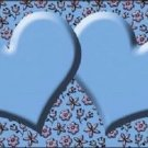 Light Blue Purple Flower Doodle Light Blue Center Hearts Metal License Plate