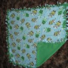 Handmade Fleece Frog Blanket