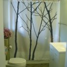 Bath Shower Curtain winter tree scape silhouette branch twig