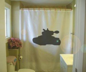 Bath Shower Curtain tank war track armor vehicle turret gun