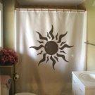 Bath Shower Curtain sun solar swirl ray shine light halo