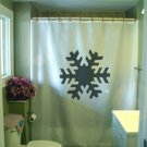 Bath Shower Curtain snow flake symmetry ice crystal six side