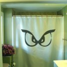 Bath Shower Curtain scary monster eyes look at see you naked