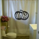 Bath Shower Curtain pumpkin carve Halloween harvest