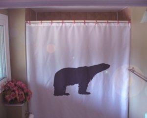 Bath Shower Curtain polar bear sea ice Arctic north pole