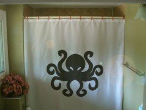 Bath Shower Curtain octopus eight leg sea creature tentacle
