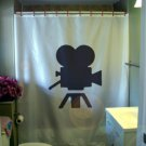 Bath Shower Curtain movie camera vintage Hollywood classic