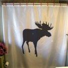 Bath Shower Curtain moose large deer antler elk palmate