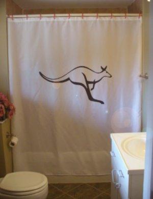 Bath Shower Curtain kangaroo marsupial australia hop jump