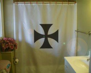 Bath Shower Curtain Iron Cross pattee German Army military