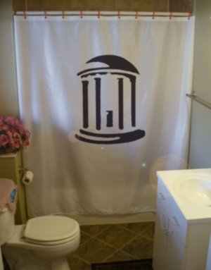 Bath Shower Curtain greek roman temple pillar step Rome dome