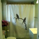 Bath Shower Curtain frigate bird pair branch tree water bill