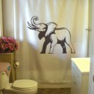 Bath Shower Curtain elephant trumpet trunk tusk ear african