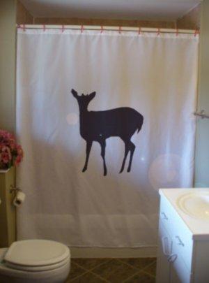 Bath Shower Curtain doe female deer animal hind cow mammal