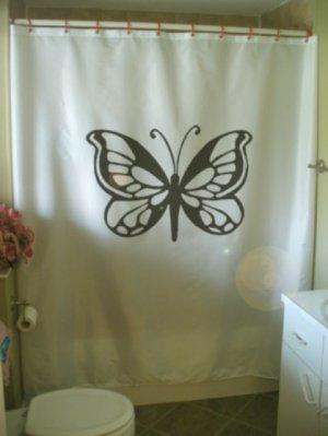 Bath Shower Curtain butterfly fancy papillon wing gossamer