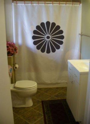 Bath Shower Curtain 16 petal chrysanthemum flower bloom