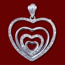 Golden pendant, diamonds, heart
