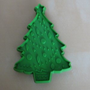 Hallmark Green Christmas Tree Cookie Cutter Vintage Holiday