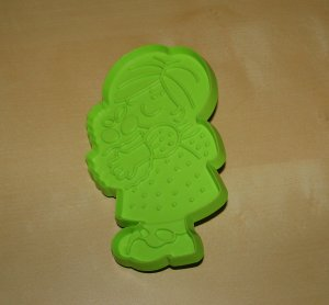 Hallmark Girl Holding Mother's Day Basket Cookie Cutter Vintage Holiday