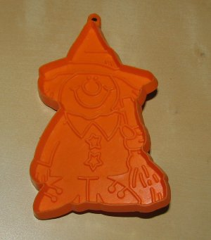 Hallmark Orange Witch With Broom Cookie Cutter Vintage Halloween