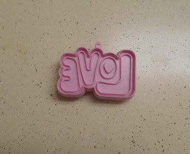 Hallmark Valentine Love Cookie Cutter Pink